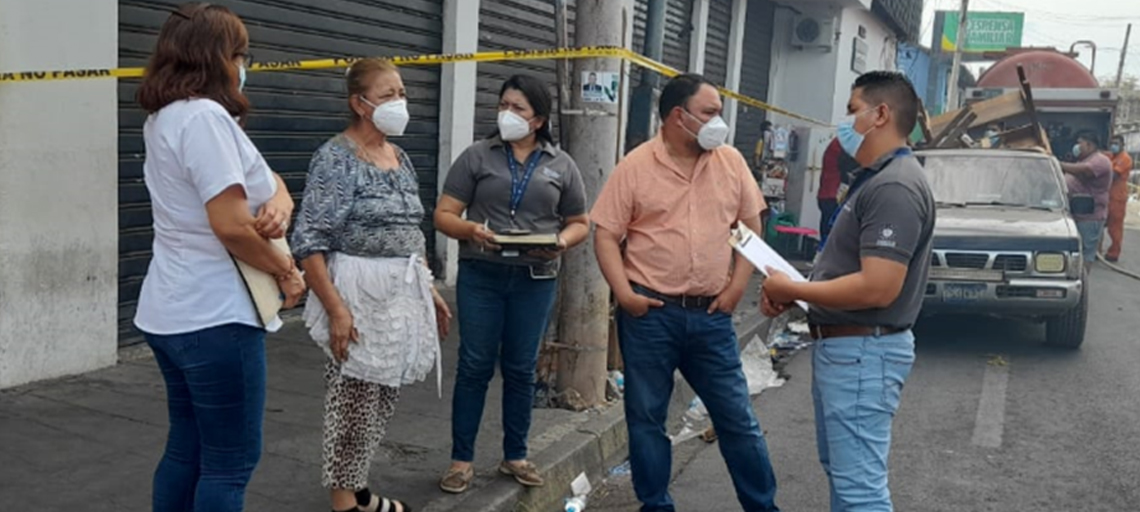 CONAMYPE pone a disposición servicios de apoyo a las MYPE afectadas por el incendio en el Parque Barrios y Mercado Central de San Miguel